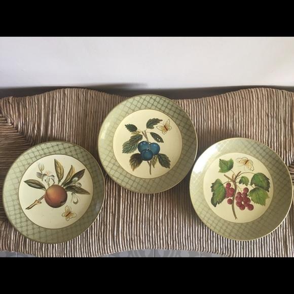 Decorative fruit plates by: Raymond Waites